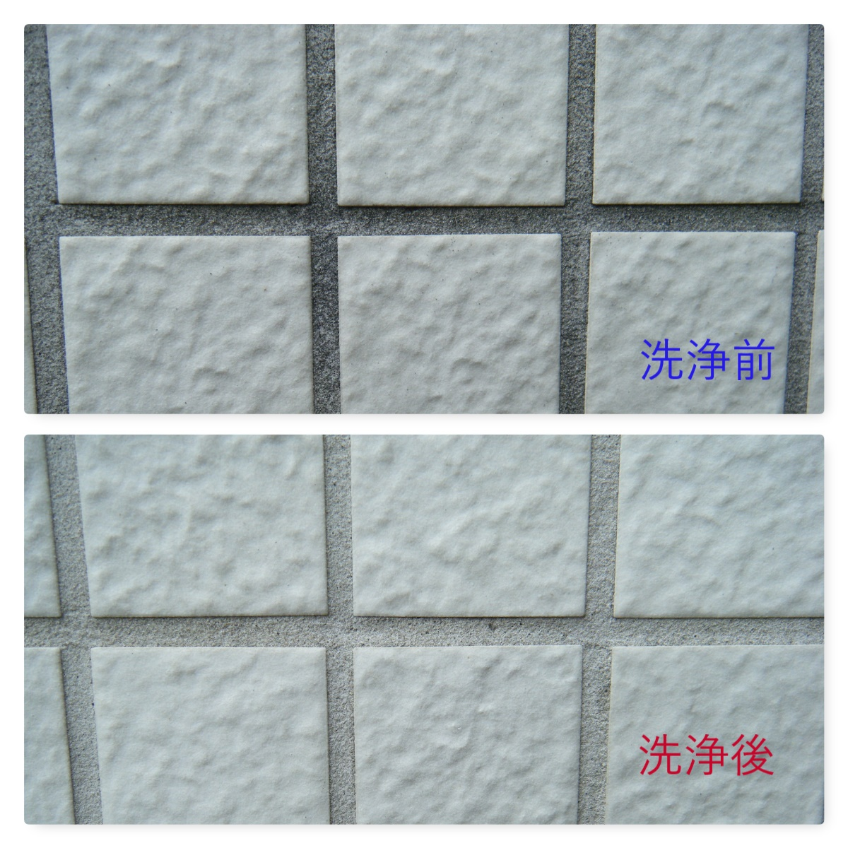 外壁の高圧洗浄&薬品洗浄